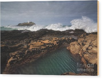 Godrevy Lighthouse In Cornwall, England Wood Print by Arild Heitmann
