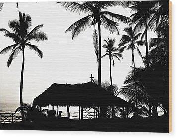 God's Beach Wood Print by Atom Crawford