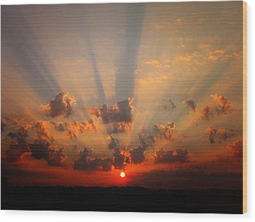 God's Morning Gift Wood Print by Deon Grandon