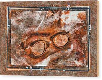 Goggles Wood Print by Mauro Celotti
