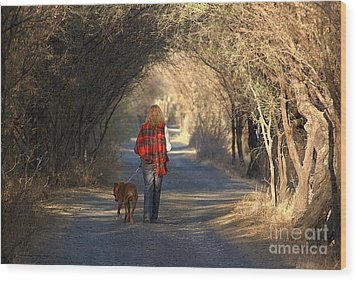 Going For A Walk  The Photograph Wood Print by John  Kolenberg