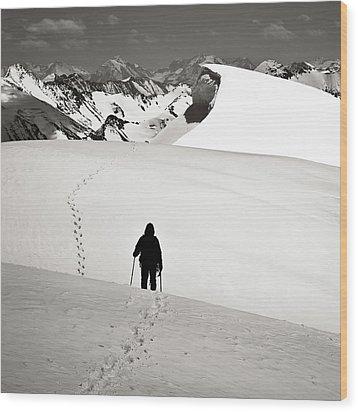 Going Forward Wood Print by Konstantin Dikovsky