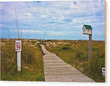 Going To The Beach Wood Print by Betsy Knapp