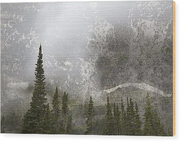Going To The Sun Road Wood Print by John Stephens