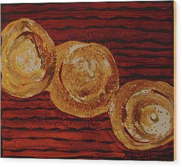 Gold Breasts Abstract Wood Print by Dede Shamel Davalos