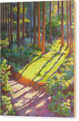 Gold Creek Trail Wood Print by Mary McInnis