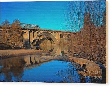 Gold Hill Bridges Wood Print by Jim Adams