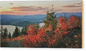 Wood Print featuring the photograph Gold Hill Sunset by Albert Seger