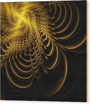 Gold Lame' Wood Print by Karla White