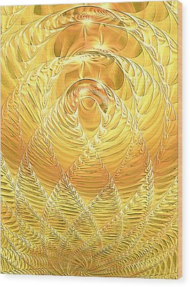 Wood Print featuring the digital art Gold Pressed Latinum by Lea Wiggins