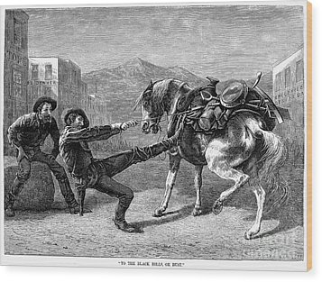 Gold Prospectors, 1876 Wood Print by Granger