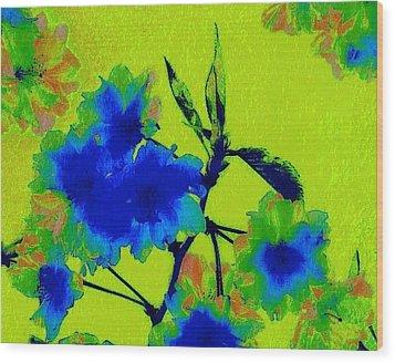 Golden Blossom Wood Print by Jen White