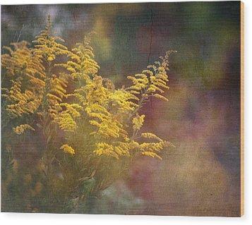 Golden Wood Print by Brenda Bryant
