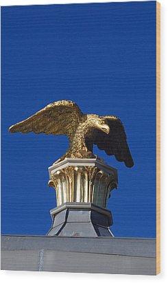 Golden Eagle Wood Print by Lisa Phillips