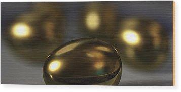 Golden Eggs Wood Print