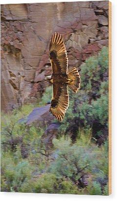 Wood Print featuring the photograph Golden Flight  by Britt Runyon