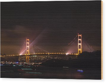 Golden Gate 75th - After The Fireworks Wood Print
