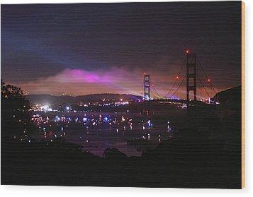Golden Gate 75th Anniversary 1 Wood Print