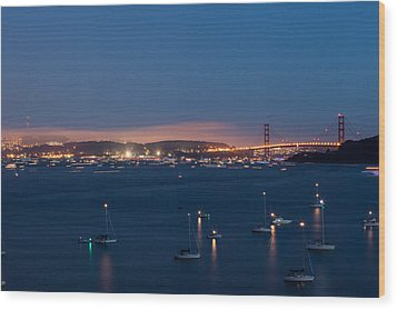 Golden Gate 75th Fireworks The Gathering Wood Print