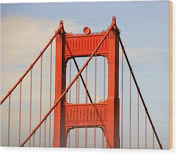 Golden Gate Bridge - Nothing Equals Its Majesty Wood Print by Christine Till