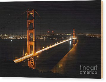 Golden Gate Bridge 2 Wood Print by Vivian Christopher