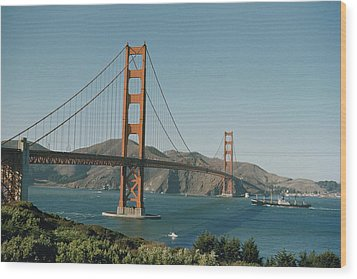 Golden Gate Bridge As Seen Wood Print by J. Baylor Roberts