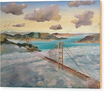 Golden Gate Bridge Wood Print by Biren