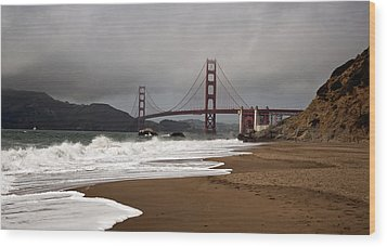 Wood Print featuring the photograph Golden Gate Bridge by Gary Rose