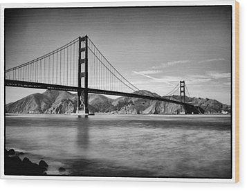 Golden Gate Bridge Wood Print by Tanya Harrison
