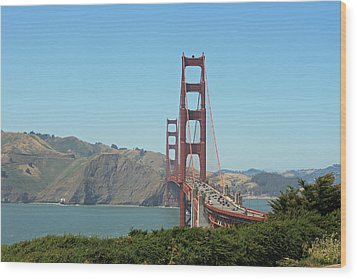 Golden Gate Wood Print by Wendi Curtis