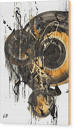 Wood Print featuring the painting Golden Glow  69.041611 by Kris Haas