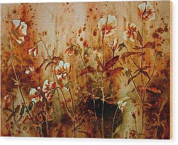 Golden Hues Wood Print by Carolyn Rosenberger