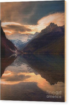 Golden Light On The Rockies Wood Print by Tara Turner