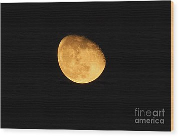 Wood Print featuring the photograph Golden Moon by Tyra  OBryant