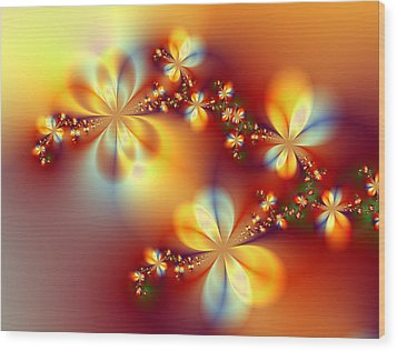 Golden Paradise Wood Print by Ester  Rogers