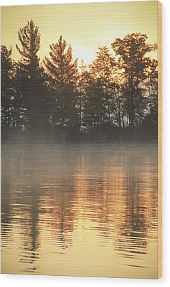 Golden Ripples Wood Print