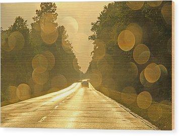 Golden Road Wood Print by Daniela Duncan