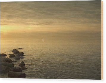 Golden Sea Wood Print by Bob Retnauer