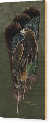 Golden Splendor Wood Print by Sandra SanTara
