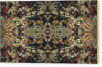 Golden Split Crop Wood Print by Peggi Wolfe