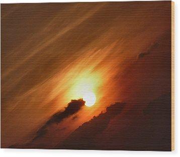 Golden Sunset Wood Print by Debra Collins