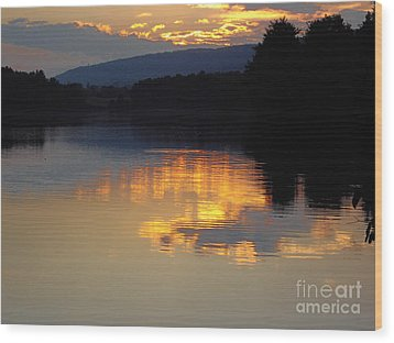 Wood Print featuring the photograph Golden Sunset by Vilas Malankar