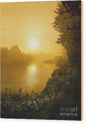 Golden View Wood Print by Robert Foster