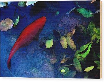 Goldfish Wood Print by Ron Jones