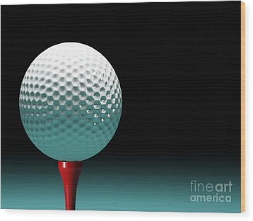 Golf Ball Wood Print by Gualtiero Boffi
