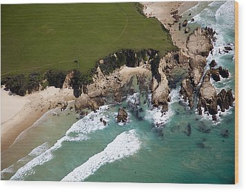 Wood Print featuring the photograph Golf Course by Carole Hinding