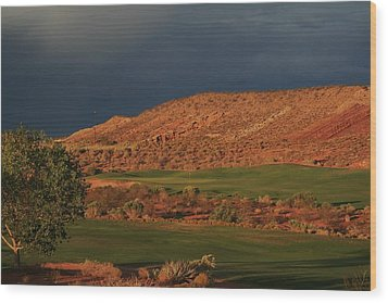 Golfers  Dream Wood Print