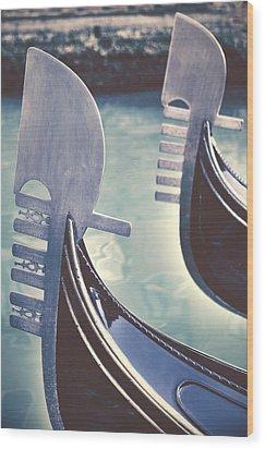 gondolas - Venice Wood Print by Joana Kruse