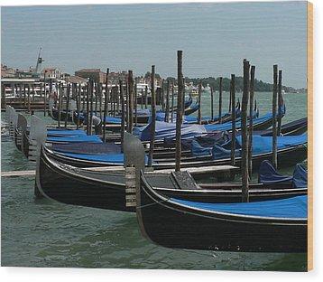 Wood Print featuring the photograph Gondolas by Laurel Best