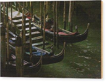 Gondole Wood Print
